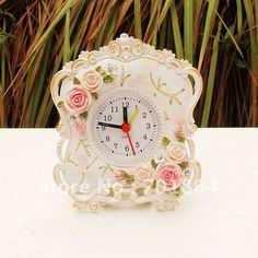 Marvelous Decorative Clocks   Table Clock   Pink Table Clock In Rose Featured Design