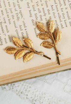 Gold Branch Hair Accessories Bobby Pin