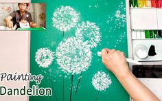 How To Paint A Dandelion: 10 Amazing and Easy Tutorials! Q Tip Painting, Bubble Painting, Galaxy Painting, Acrylic Painting Tutorials, Lilac Painting, Watercolor Tutorials, Watercolor Painting, Watercolor Techniques, Painting Techniques