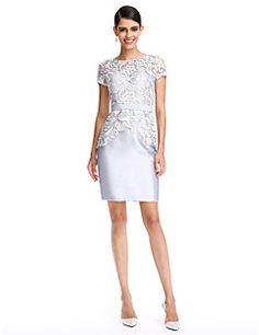 2017 TS Couture® Prom Cocktail Party Dress Sheath   Column Bateau  Knee-length Lace e00baed140e