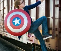 Making Captain America's shield from a sled