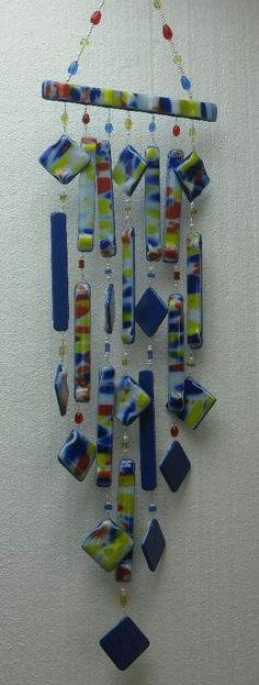 Two-Tone Fused Glass Wind Chime ~ Joyce Sullivan