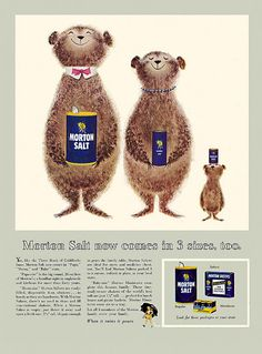 A cute Morton Salt ad from 1955. #vintage #1950s #food #ads Vintage Ads Food, Pub Vintage, Vintage Cooking, Retro Food, Vintage Candy, Old Advertisements, Retro Advertising, Retro Ads, Creative Advertising