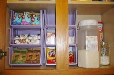 Med bins 36 Dollar Store Kitchen Organization Hacks You Can Pull Off Like a Child's Play