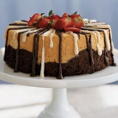 Black and White Angel Food Cake | MyRecipes.com
