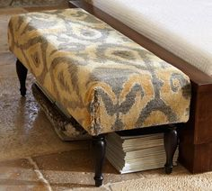 For the bedroom....Tara Hand-Knotted Ikat Bench | Pottery Barn