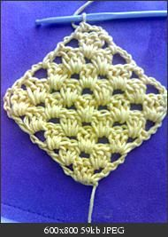 Corner-start diagonal granny square; link to rectangle is also here.  . . . .   ღTrish W ~ http://www.pinterest.com/trishw/  . . . .   #crochet