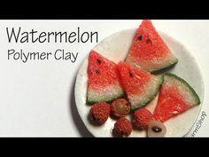 Easy Realistic Miniature Watermelon - Polymer Clay Tutorial - YouTube
