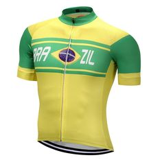 Brazil Style MTB Bike Jersey men's Cycling Clothing 2017 Ropa Ciclismo Jersey Riding bicycle Top Maillot T-shirts sports top Road Bike Jerseys, Cycling Jerseys, Road Bikes, Cycling Outfit, Cycling Clothing, Différents Styles, Cycling Bikes, Pro Cycling, Mtb Bike