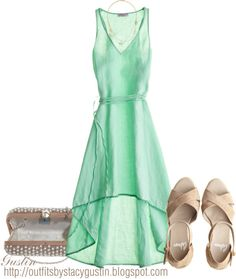 """""""minty summer day"""" by stacy-gustin ❤ liked on Polyvore"""