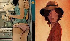 Sinta o charme das ilustrações românticas e melancólicas do brasileiro Anthony Mazza