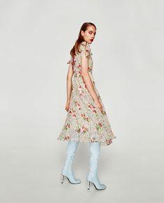 ZARA - TRF - STAR PRINT DRESS