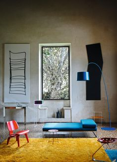 A fine arched line, a flexible sign which by magic suspends a large diffuser in mid-air: this is Twiggy, a floor lamp that meets multiple setting and lighting requirements. Twiggy, Living Room Inspiration, Interior Design Inspiration, Interior Exterior, Interior Architecture, Design Furniture, Modern Furniture, Living Divani, Led Floor Lamp