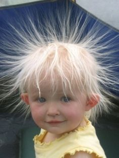 Funny #Hair #static getting the best of this little tyke!