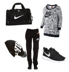 """Untitled #19"" by belma-karavdic-1 on Polyvore featuring NIKE, women's clothing, women's fashion, women, female, woman, misses and juniors"
