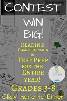 Do you care about your students' grades on Standardized Exams? Enter our contest for a chance to win a years worth of Test Prep Material!