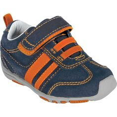 Flex Frederick - Navy, Orange | pediped footwear | comfortable shoes for kids | infant baby toddler youth shoes