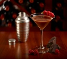 Baileys based Chocolatini cocktail.Sweet and delicious cocktail with popular Baileys Irish cream liqueur.