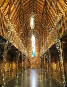 Barn Decorated For A Square Dance