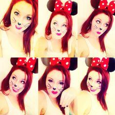 Halloween Minnie Mouse Makeup