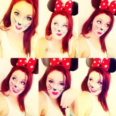 Halloween Minnie Mouse Makeup