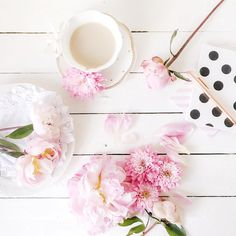 Tea, peonies; what more can one ask for.
