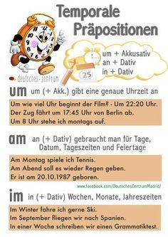 Präpositionen Deutsch Wortschatz Grammatik Alemán German DAF