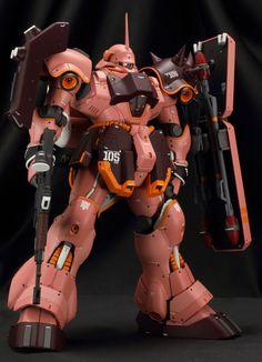 "Custom Build: MG 1/100 Geara Doga ""Full Frontal Custom"" [Detailed] - Gundam Kits Collection News and Reviews"