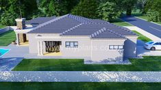 3 Bedroom House Plan - My Building Plans South Africa Round House Plans, Tuscan House Plans, My House Plans, Family House Plans, Village House Design, Village Houses, My Building, Building Plans, Master Suite