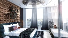 Designed by @studio ash Germany | See more bedroom decor ideias https://www.brabbu.com/en/inspiration-and-ideas/?s=bedroom
