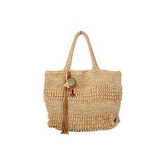 Junkanoo Tote ($279) ❤ liked on Polyvore featuring bags, handbags, tote bags, man bag, beige tote bag, crochet tote bag, boho purses and hand bags