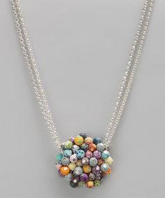 Take a look at this Festival Cluster Pendant Necklace by Perfect Presents: Jewelry & Accessories on #zulily today!
