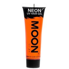 Moon Glow 20ml Neon UV Hair Gel Temporary Wash-out Hair Colour Orange (£2.81) ❤ liked on Polyvore featuring beauty products, haircare and hair color