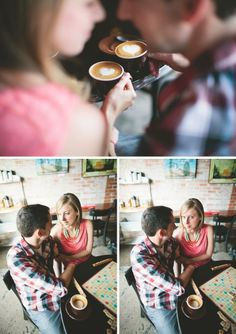I want to find someone who will drink coffee with me and then we will get engagement photos like this :)