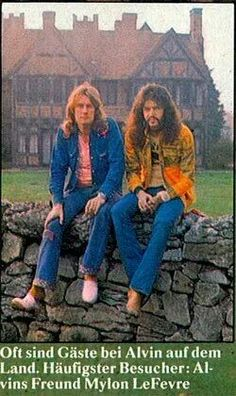 """Alvin lee and Mylon leFevre, with whom he created the beautiful album """"On the Road to Freedom"""" in the US."""