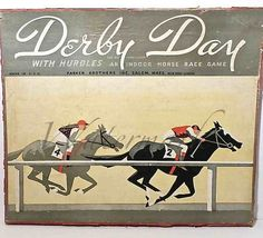 Vintage Horse Race Wall Art Art Deco  Game Board  by SunshineBooks, $26.00