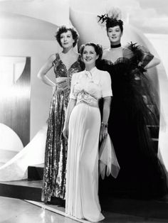 Joan Crawford, Norma Shearer and Rosalind Russell