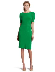 i love the color, length, sleeve, and neckline on this dress. i think this would be great for an interview