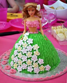 Hula Girl Birthday Cake- remembering the cakes my MoM use to make for Birthday's....