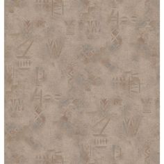 Bearing a tribal theme, this taupe wallcovering adds an intricate texture, depth, and a chic, elegant feel to walls. This wallpaper highlights a coated vinyl construction that adds depth and character.