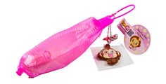 Puni Maru Mini Cheeki Banana Squishy, Pink Puni Maru