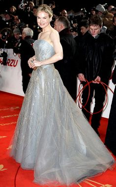 Gown Glam from Renée Zellweger's Best Looks  The actress attends the 2011 Golden Camera awards in Berlin donning a stunning gray-and-metallic ball gown.