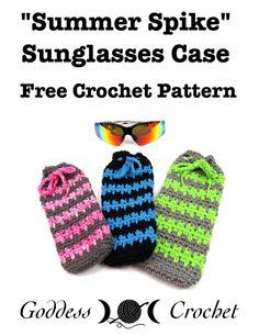 Summer Spike Sunglasses Case – Free Crochet Pattern
