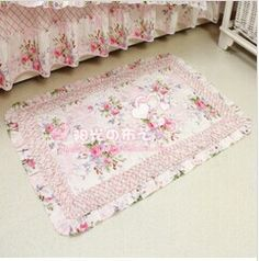 Bedside floor mat pastoral printed mats princess double sides rectangle bedroom living room carpet tapetes 50*80CM textile gift-in Mat from Home & Garden on Aliexpress.com   Alibaba Group