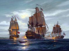Flamborough Head. A painting by St Ives Artist Donald MacLeod Maritime Art
