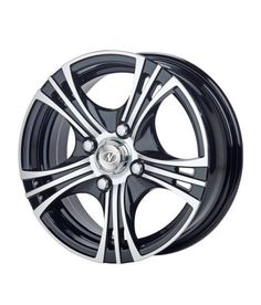 NEO WHEELS - FUSION - BLACK MACHINED - 13 Inch Alloys (Set of 4)