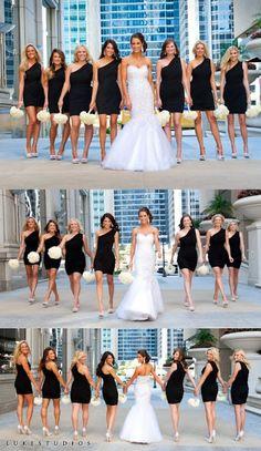 Mais uma dica de foto para casamento: Sequência de fotos com madrinhas - Maringá - PR