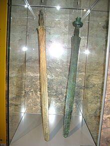 Hallstatt 'C' Swords in Wels Museum, Upper Austria.