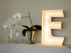 DIY - Paper Marqueee Letter Lamp