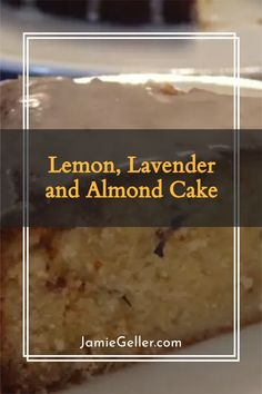 The lavender gives a delicious flavour, but you can omit it for a simpler lemon and almond cake. #glutenfree #vegan #easy Non Dairy Desserts, Passover Desserts, Dessert Recipes, Potato Flour, Almond Cakes, Cake Tins, Round Cakes, Serving Plates, Glutenfree
